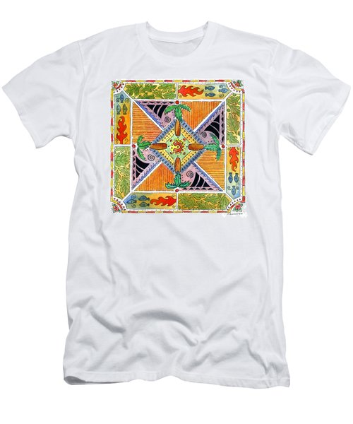 Hawaiian Mandala I - Palm Trees Men's T-Shirt (Athletic Fit)