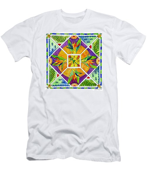 Hawaiian Mandala II - Bird Of Paradise Men's T-Shirt (Athletic Fit)
