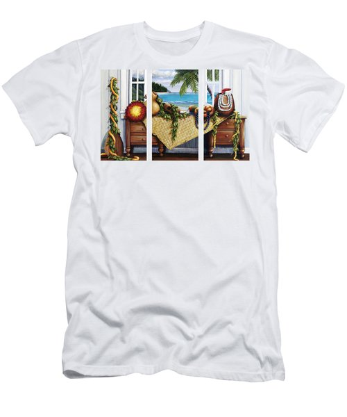 Hawaiian Still Life With Haleiwa On My Mind Men's T-Shirt (Slim Fit) by Sandra Blazel - Printscapes