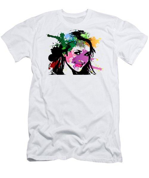 Hayden Panettiere Pop Art Men's T-Shirt (Athletic Fit)