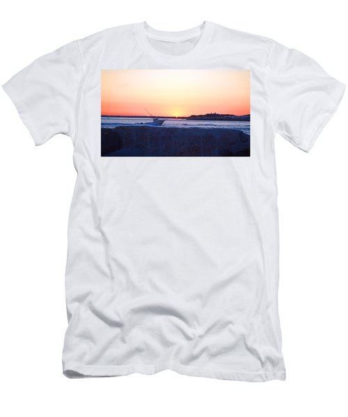 Men's T-Shirt (Slim Fit) featuring the photograph Heading Out by  Newwwman