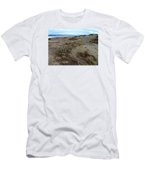 Headlands Mackerricher State Beach Men's T-Shirt (Slim Fit) by Amelia Racca