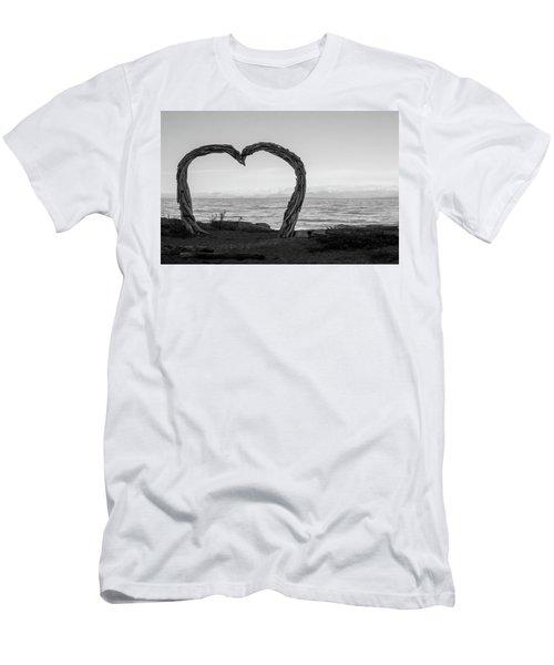 Heart Arch Men's T-Shirt (Athletic Fit)