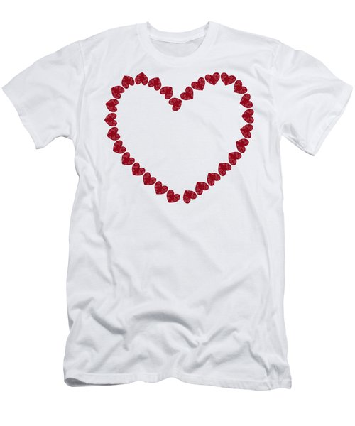 Heart From Red Hearts Men's T-Shirt (Athletic Fit)