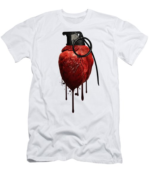 Heart Grenade Men's T-Shirt (Athletic Fit)