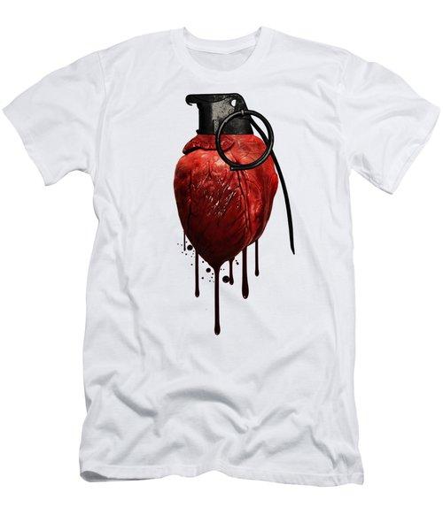 Heart Grenade Men's T-Shirt (Athletic Fit)