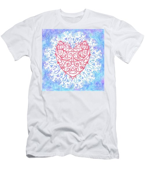 Heart In A Snowflake II Men's T-Shirt (Athletic Fit)