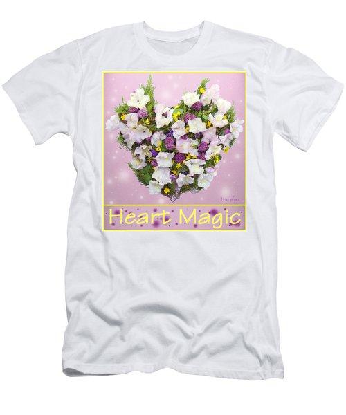 Men's T-Shirt (Slim Fit) featuring the digital art Heart Magic by Lise Winne