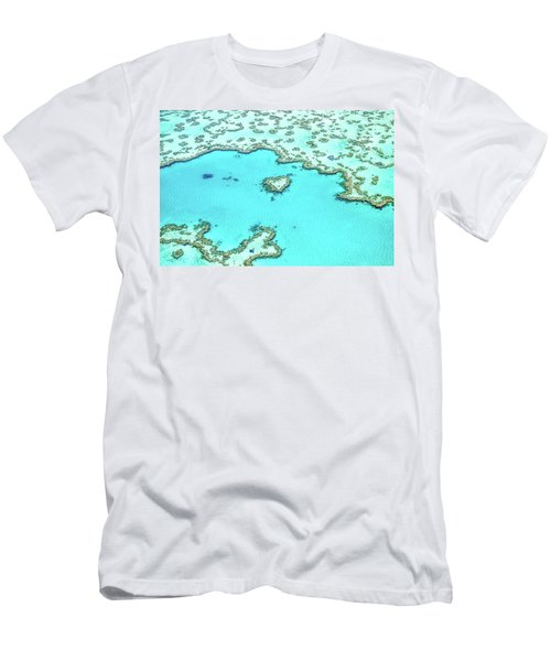 Heart Of The Reef Men's T-Shirt (Slim Fit) by Az Jackson