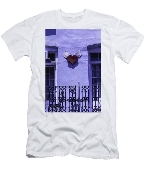 Heart On Wall Men's T-Shirt (Athletic Fit)