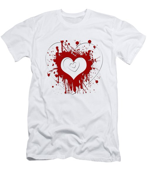 Hearts Graphic 1 Men's T-Shirt (Athletic Fit)