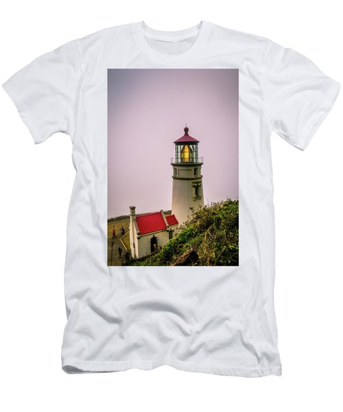 Heceta Head Lighthouse In The Fog Men's T-Shirt (Athletic Fit)