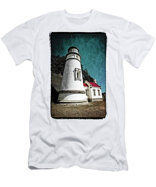 Men's T-Shirt (Athletic Fit) featuring the photograph Hecitia Head Lighthouse by Jeffrey Jensen