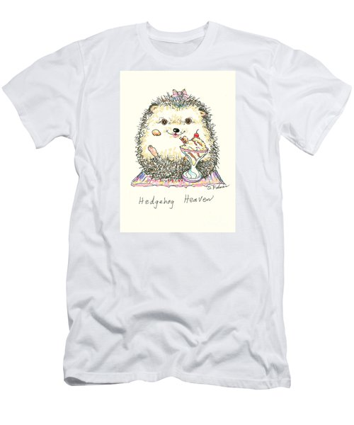 Hedgehog Heaven Men's T-Shirt (Slim Fit) by Denise Fulmer