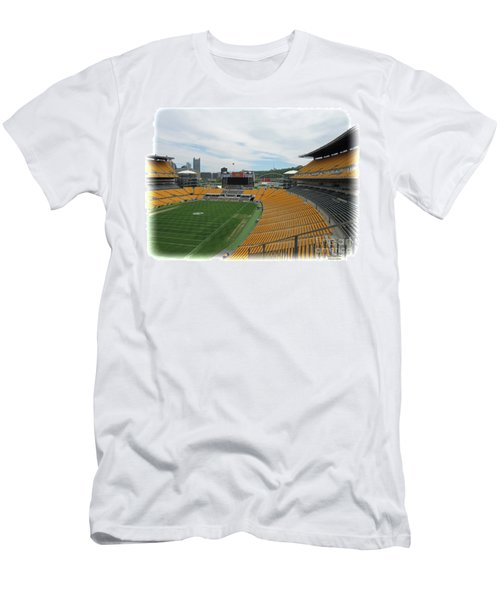 Heinz Stadium With Pittsburgh Skyline Men's T-Shirt (Athletic Fit)