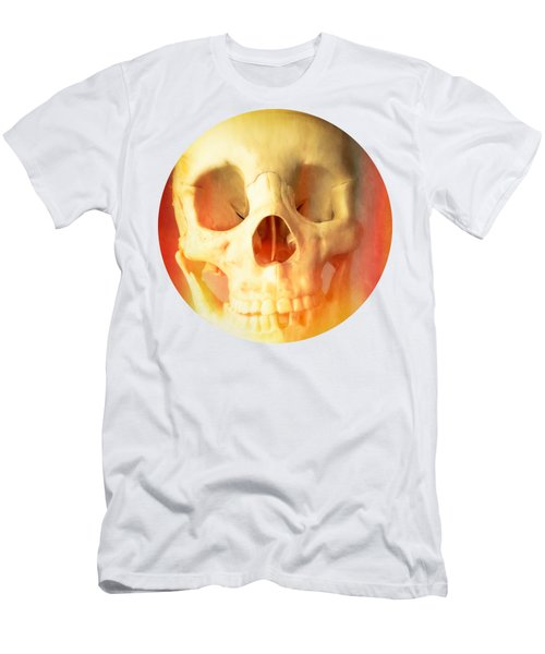 Hell Fire Skull Round Beach Towel Blanket Men's T-Shirt (Athletic Fit)
