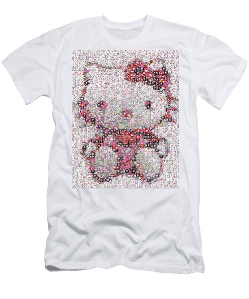 Hello Kitty Button Mosaic Men's T-Shirt (Athletic Fit)
