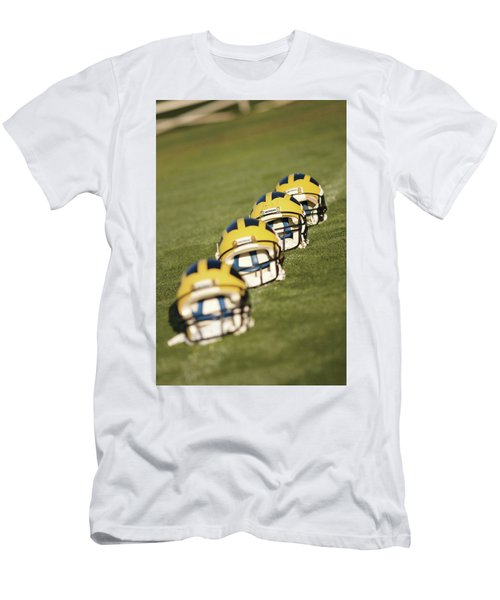 Helmets On Yard Line Men's T-Shirt (Athletic Fit)