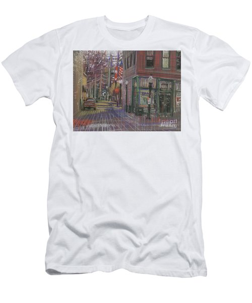 Men's T-Shirt (Slim Fit) featuring the painting Henry's by Donald Maier