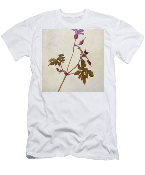 Herb Robert - Wild Geranium  #flower Men's T-Shirt (Athletic Fit)