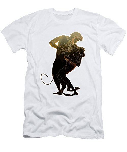 Hercules And The Nemean Lion Men's T-Shirt (Slim Fit) by Tracey Harrington-Simpson