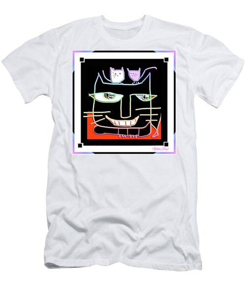 Here,  Kitty Kitty Men's T-Shirt (Athletic Fit)