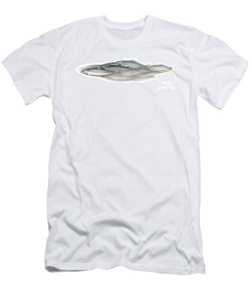 Herring School Of Fish - Clupea - Nautical Art - Seafood Art - Marine Art - Game Fish Men's T-Shirt (Athletic Fit)
