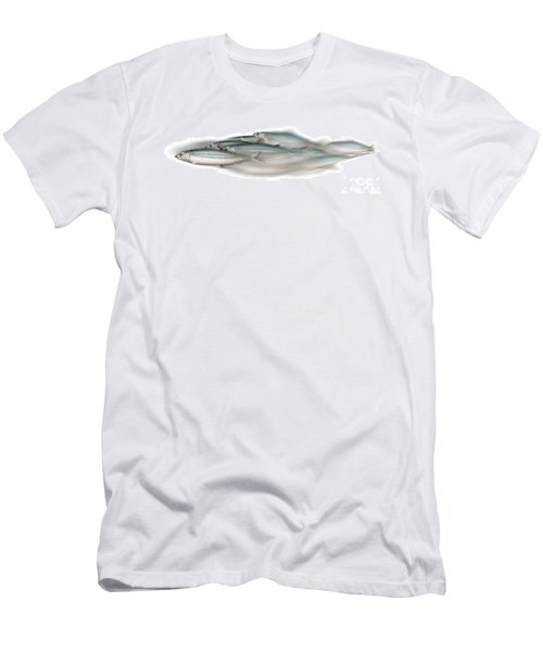 Herring School Of Fish - Clupea - Nautical Art - Seafood Art - Marine Art - Game Fish Men's T-Shirt (Athletic Fit)