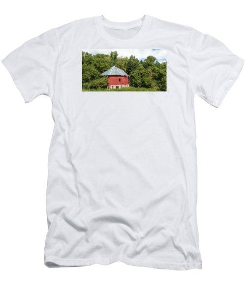 Men's T-Shirt (Slim Fit) featuring the photograph Hexagon Barn by Dan Traun