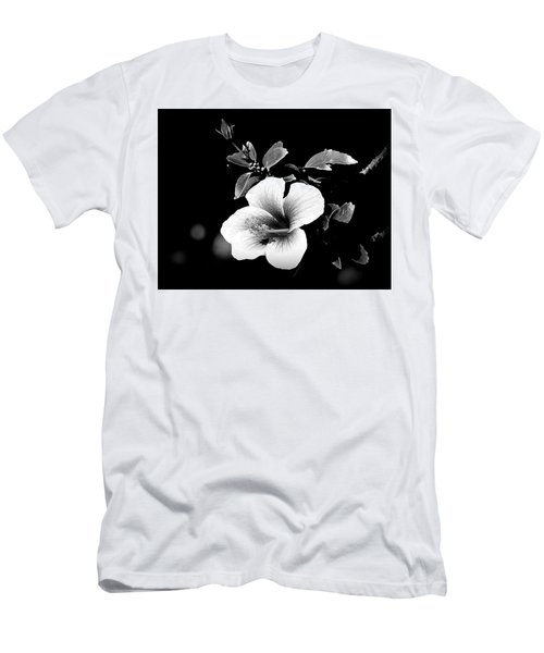 Men's T-Shirt (Slim Fit) featuring the photograph Hibiscus In The Dark by Lori Seaman