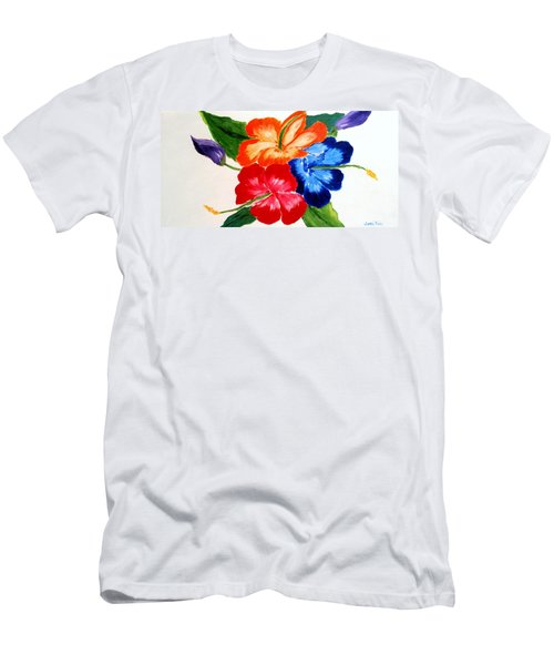 Men's T-Shirt (Slim Fit) featuring the painting Hibiscus by Jamie Frier