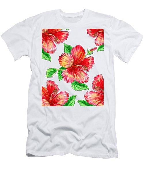 Hibiscus Magic Garden Men's T-Shirt (Athletic Fit)