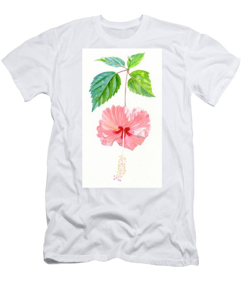 Hibiscus Sprinkle Rain, Rosa Sinensis Men's T-Shirt (Athletic Fit)