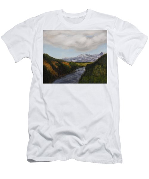 Hidden Mountains Men's T-Shirt (Slim Fit) by Alan Mager