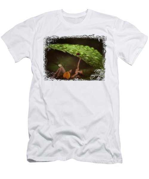 Hiding From The Storm Men's T-Shirt (Slim Fit) by Terry Fleckney