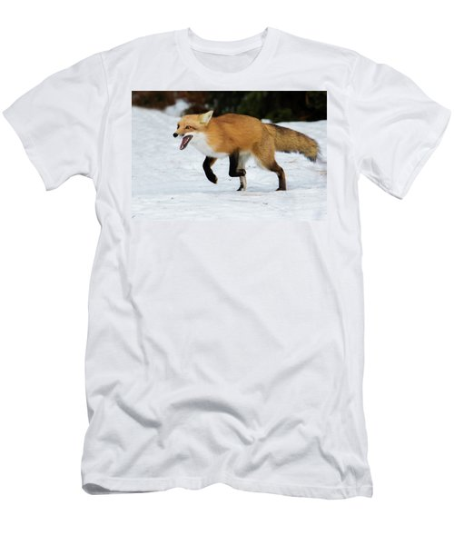 Men's T-Shirt (Slim Fit) featuring the photograph High Speed Fox by Mircea Costina Photography