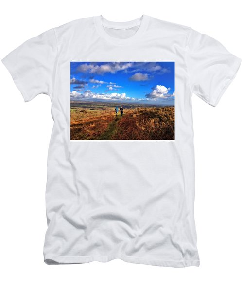 Hiking With College  #college #hike Men's T-Shirt (Athletic Fit)