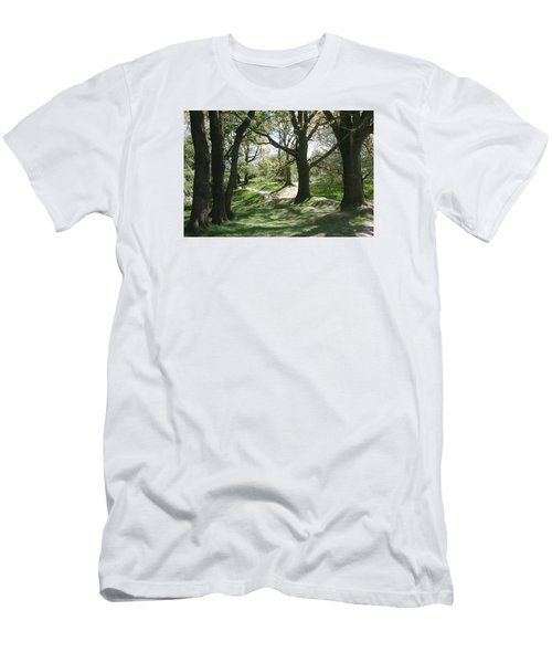 Men's T-Shirt (Slim Fit) featuring the photograph Hill 60 Cratered Landscape by Travel Pics