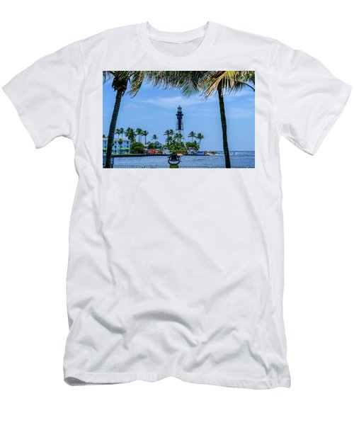 Men's T-Shirt (Slim Fit) featuring the photograph Hillsboro Inlet Lighthouse by Louis Ferreira