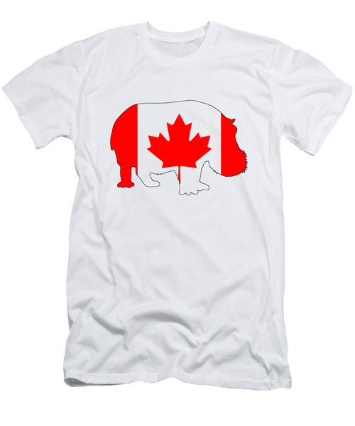 Hippopotamus Canada Men's T-Shirt (Slim Fit) by Mordax Furittus