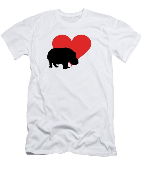 Hippopotamus Men's T-Shirt (Slim Fit) by Mordax Furittus