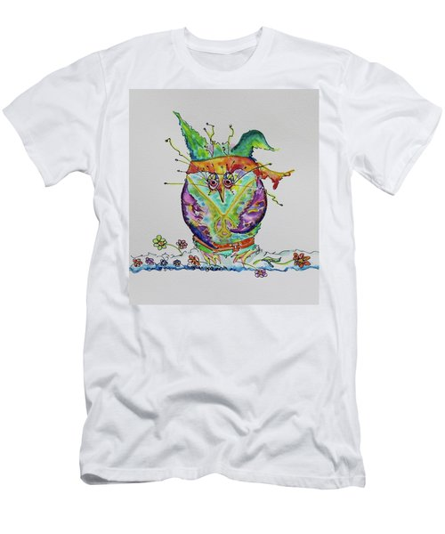 Hippy Owl- Vertical Format Men's T-Shirt (Athletic Fit)