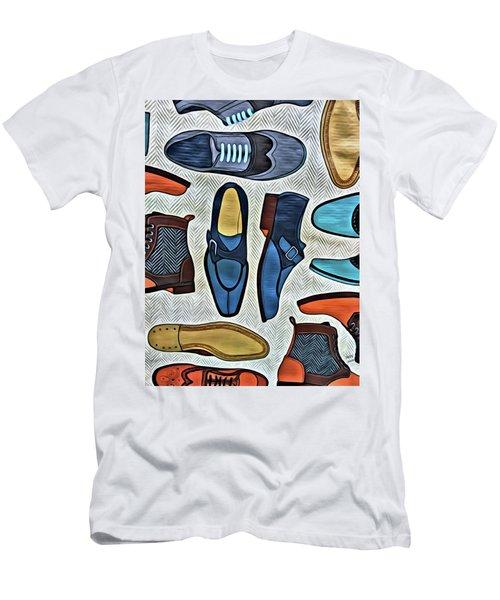 His Shoes Men's T-Shirt (Athletic Fit)