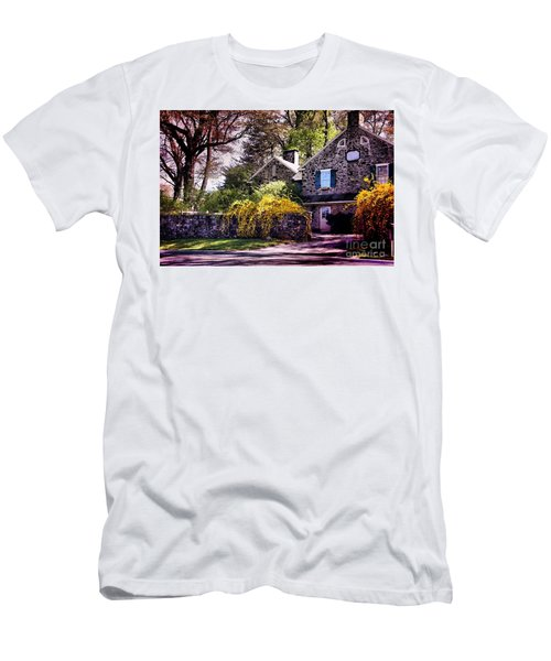 Men's T-Shirt (Slim Fit) featuring the photograph Historic 1889 Home by Polly Peacock