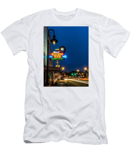Historic Almond Roca Co. During Blue Hour Men's T-Shirt (Athletic Fit)
