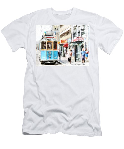 Historic Stockholm Tram Men's T-Shirt (Athletic Fit)