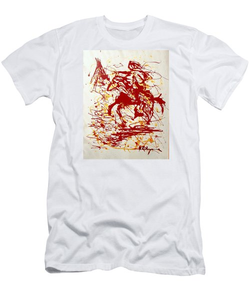 Men's T-Shirt (Slim Fit) featuring the painting History In Blood by J R Seymour