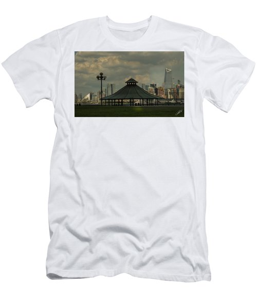 Hoboken, Nj -pier A Park Gazebo Men's T-Shirt (Athletic Fit)