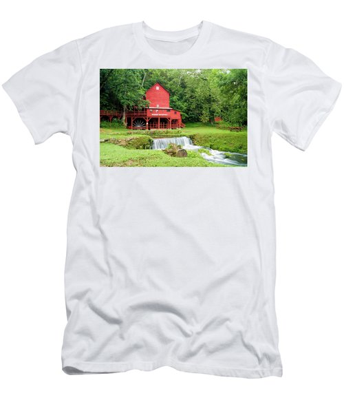 Men's T-Shirt (Slim Fit) featuring the photograph Hodgson Water Mill by Cricket Hackmann