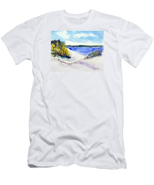 Hole In The Cove Men's T-Shirt (Slim Fit) by Joan Hartenstein